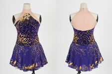 Ice Skating Dress Girls Custom Figure Skating Clother Women Competition Purple l