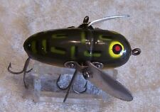 WOOD HEDDON CRAZY CRAWLER LURE  08/23/16NY  BF MULTI COLOR EYES