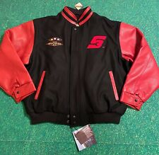 VTG Snap-On Tools Letterman Varsity Leather Bomber Wool Jacket Specialist Box
