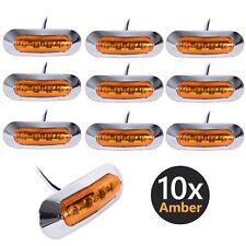 10x 12v 24v Amber 4 SMD LED Side Marker Tail Light Clearance Lamp Universal Fit