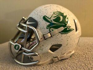 Oregon Ducks Combat Duck Custom Riddell Speed MINI Football Helmet, VERY NICE!!