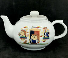 Tetley Tea Folk Teapot Mascot Transfer Design 26oz 3 cup Ceramic Ad Promo