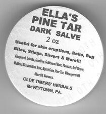 ELLA's BLACK PINE TAR SALVE  FREE SHIPPING  2 oz. jar  NOT ichthammol DRAWING