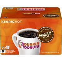 Dunkin Donuts Original Blend Keurig Coffee K-Cups 72 Count - GREAT VALUE!!
