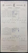 Cricket Scorecard - Oxford V Cambridge, July 6-9, 1957 at Lords CC, 1st Innings