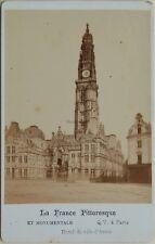 Hôtel de ville d'Arras France Cdv Photo Q. V. Paris Vintage Albumine