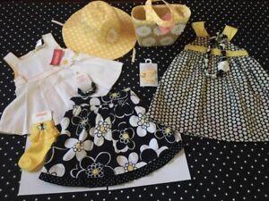 Gymboree Lady Daisy Bee Chic dress skirt top socks hair 3 4 jewelry purse hat