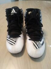 Adidas Kid's Performance Filthy Quick 2.0 Football Cleats Blk/ Wht Sz 2.5 S85607