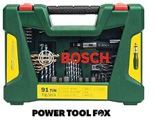 new Bosch Drill/Screwdriver Bit Accessory Set 91 Piece 2607017195 3165140726962#