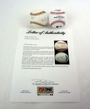 President George HW Bush & George W Bush Dual Signed Baseball PSA/DNA COA