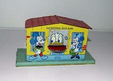 """DISNEY 1950's """"2nd NATIONAL DONALD DUCK MECHANICAL TIN BANK""""-COMPLETE WITH TRAP"""
