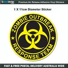 Zombie Outbreak Response Team Sticker 11cm Car Window Fridge Bumper #Z002