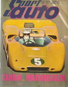 SPORT AUTO 70 1967 CANAM GP USA CORVETTE STINGRAY 427 1000KM PARIS UNIPOWER GT