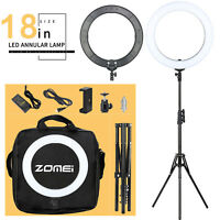 """ZOMEI18"""" SMD LED Ring Light Dimmable 5500K Continuous Lighting Photo Video Kit"""