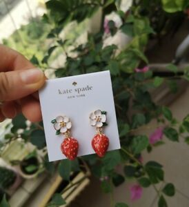 Kate Spade New York Perfect Picnic Strawberry gold plated Drop Earrings
