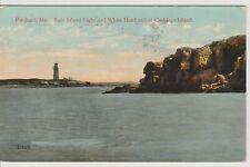 Ram Island Light and White Head end of Cushings Island Portland Maine Postcard