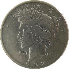USA 1 Dollar 1922 D Denver Peace Dollar Silber
