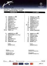 Teamsheet - Chelsea v Lazio 2003/4 Champions League