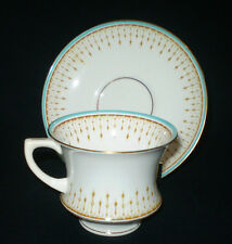 1920'S PARAGON STAR BACKSTAMP FINE BONE CHINA CUP & SAUCER DUO ~ BLUE AND GOLD