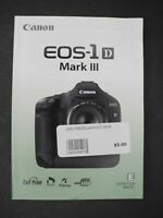Canon Genuine EOS 1D Mark III Camera Instruction Book / Manual / User Guide