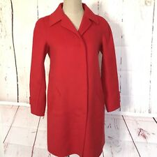 Max Mara Womens Weekend Coat Size M Bust 38 in. Red Wool Blend Snap Button Front