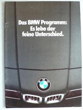 Prospectus BMW programme, 2.1979, 20 pages avec m1, Affiche 3.0 CSL CALDER, Warhol