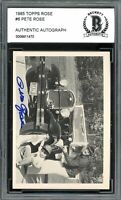 1985 Topps Rose #6 Pete Rose Card Authentic Autograph BGS Authentic