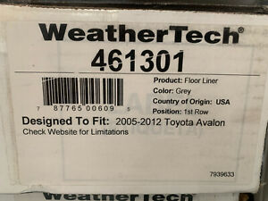 Weathertech Floor Mats 461301 Toyota Avalon