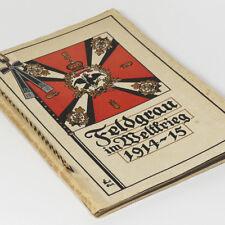 German Artist Album with WW1 watercolors Field-gray in World War 1914-15 WWI