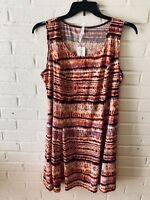 New NY Collection Woman's Fit n Flare Jersey Knit Sleeveless Dress  1XP.  V102