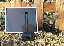 Solar Powered Fountain Pond Pump 39 Gallons Per Hour Output
