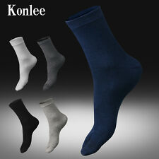 6 Pairs Combed Cotton Five Finger Toes Business Semi-high Business Winter Socks