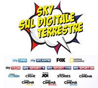 ABBONAMENTO SKY HD DIGITALE TERRESTRE SPORT & CALCIO + OMAGGIO CAM DIGIQUEST HD