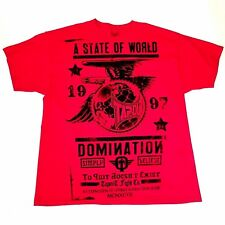 TapOut 1997 A State Of World Domination T-shirt Tap Out Shirt Red Mens XXL