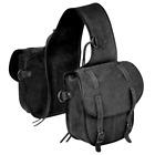 Tough-1 Black Soft Leather Horn Bag Horse Tack Equine