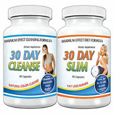 WEIGHT LOSS SYSTEMS  30 Day  Slim+Cleanse Fat Burner Detox Maintain  120 Pills