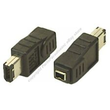 4pin Female~6pin Male IEEE1394a Firewire/iLink/DV 400mbs Cable/Port/Cord Ad
