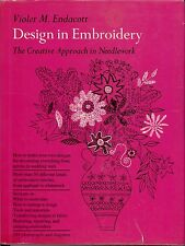 "Violet M. Endacott ""Design In Embroidery"" 1963 Sewing Needlepoint Pattern Book"
