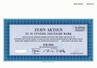 Escada AG München hist DM Aktie 1986 Mode Schmuck Lifestyle Textil Bayern Mittal