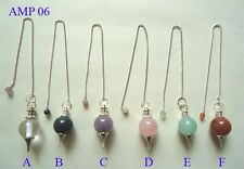 Set of Six Crystal Sphere dowser Pendulums healing Reiki Feng Shui gift energy