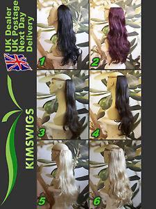 1 Pièce Pince Extension de Cheveux 63.5cm Long 150 Grammes Blonde Brune Rouge /