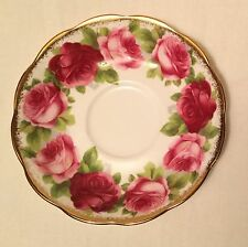 Royal Albert England Bone China Saucer ONLY Old English Rose Pattern Replacement