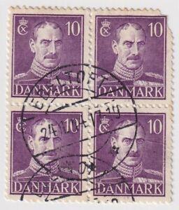 1942-1944 Denmark - King Christian X - Block 4 x 10 Ore Stamps