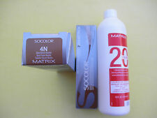 TWO 4N MATRIX SOCOLOR HAIRCOLOR PLUS ONE 16oz DEVELOPER NEW!