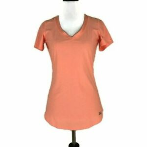 Under Armour Women's M Medium Athletic T-Shirt Fitted V-Neck Short Sleeve