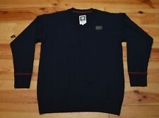 💡G STAR MENS NAVY BLUE V NECK HEAVY COTTON JUMPER VGC UK SIZE L LARGE