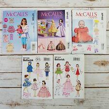 Lot 5 Mixed Sewing Patterns Girls Matching Baby Youth Mccalls Butternick Uncut