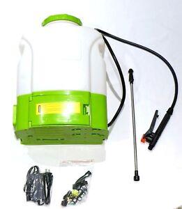 4 Gallon Tank Cordless 12 Volt Battery Operated Electric Backpack Garden Sprayer
