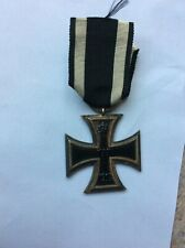 WW1 IMPERIAL GERMAN IRON CROSS MEDAL MAKERS MARK ON THE RING SW ORIGINAL