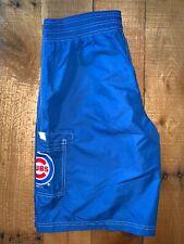 Men's MLB G-III Chicago Cubs Striped Swim Trunks Shorts Medium NWT